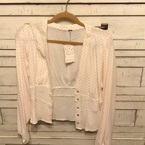 Free People Button up blouse